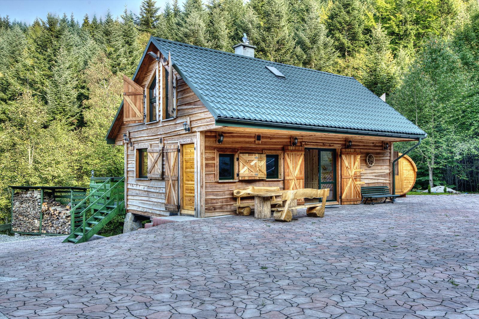 Bardzo dobryFantastyczny Świerkowe Zacisze - komfortowe, drewniane domki do wynajęcia w FB33